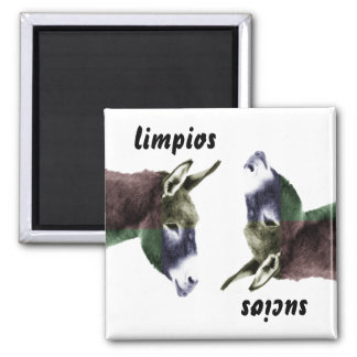 Burro Spanish Clean or Dirty Dishes Dishwasher Square Magnet