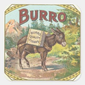 Burro Square Sticker