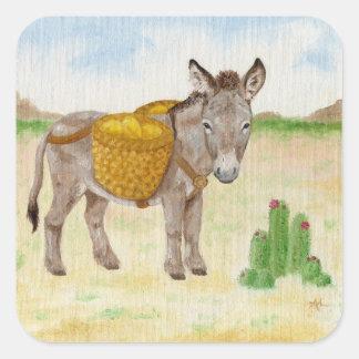 Burro with Basket sticker