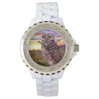 Burrowing Desert Owl  Creationarts Wrist Watches