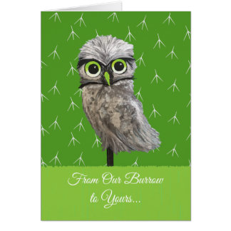 Burrowing Owl Holidays Card
