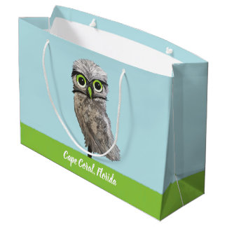 Burrowing Owl Painting Cape Coral FL Large Gift Bag