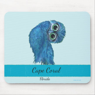 Burrowing Owl Painting Cape Coral FL Mouse Pad