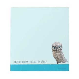 Burrowing Owl Painting Cape Coral FL Notepad