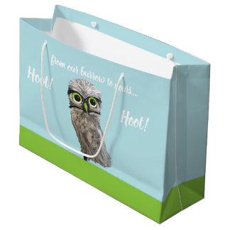 Burrowing Owl Painting Large Gift Bag