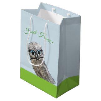 Burrowing Owl Painting Medium Gift Bag