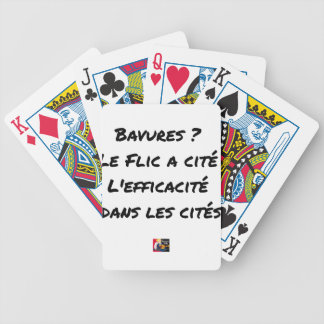 BURS? THE COP IN CITY EFFECTIVENESS IN BICYCLE PLAYING CARDS