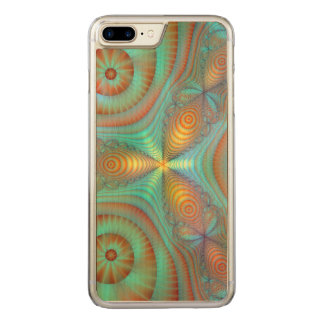 Burst Fantasy Fractal Abstract Art Bright Colors Carved iPhone 7 Plus Case