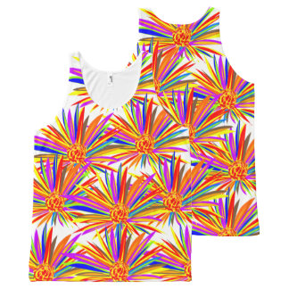 Burst of Color Floral All Over Print All Over Top