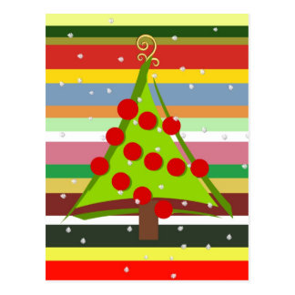 Burst of colors at Christmas time Postcard