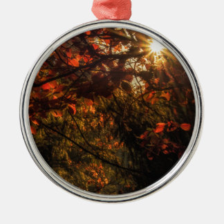 Burst of Fall Metal Ornament