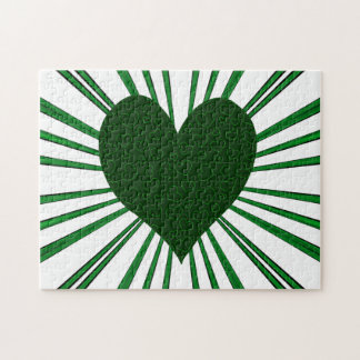 Burst Of Love (Green) Jigsaw Puzzle