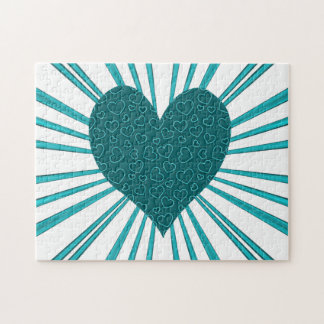 Burst Of Love (Light Blue) Jigsaw Puzzle