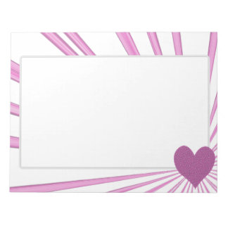 Burst Of Love (Pink) Notepad