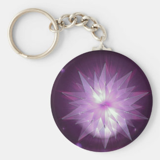 Burst of Purple Hope Keychain