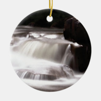 burst of water in creek ceramic ornament