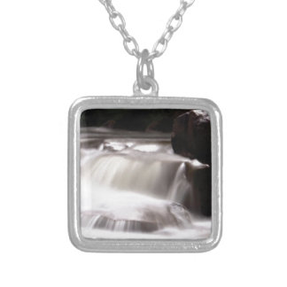 burst of water in creek silver plated necklace