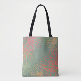 Bursting Daisies Floral Pattern Tote Bag