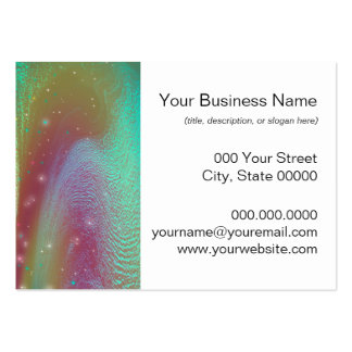 Bursting Nebula Fantasy Galaxy Abstract Art Large Business Card
