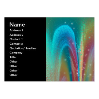 Bursting Nebula Fantasy Galaxy Abstract Art Pack Of Chubby Business Cards