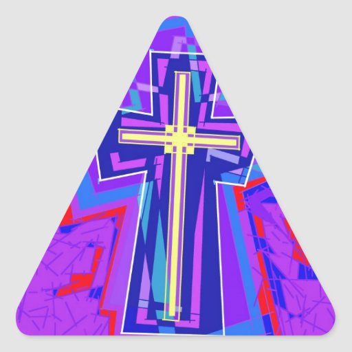 Bursting thru. triangle stickers