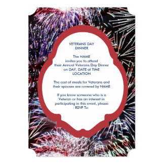 Bursting With Pride Veterans Day Party Invite
