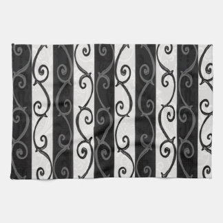 Burtonesque Stripes and Swirls Kitchen Towel