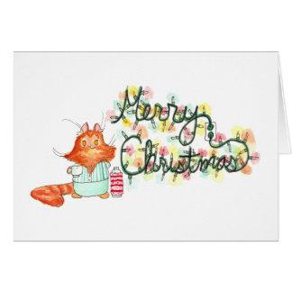 Burt's Christmas Lights Greeting Card
