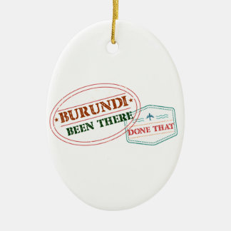 Burundi Been There Done That Ceramic Oval Ornament
