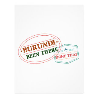Burundi Been There Done That Letterhead