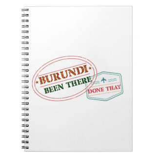 Burundi Been There Done That Notebooks
