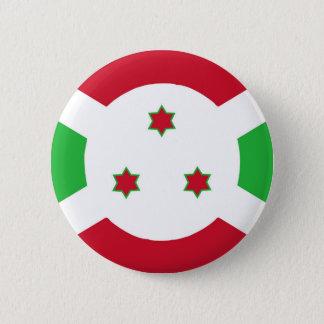 Burundi country flag symbol long 2 inch round button
