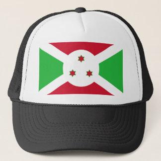 Burundi country flag symbol long trucker hat