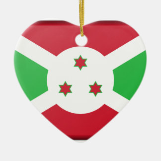 Burundi Flag Ceramic Ornament