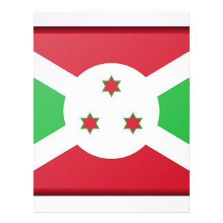 Burundi Flag Letterhead