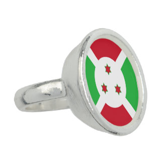 Burundi Flag Photo Rings