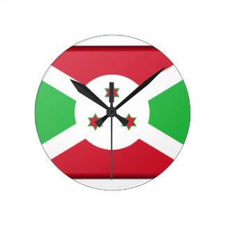 Burundi Flag Round Clock