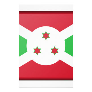 Burundi Flag Stationery