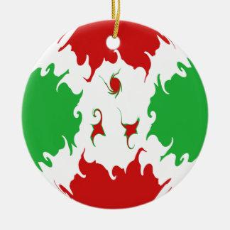 Burundi Gnarly Flag Double-Sided Ceramic Round Christmas Ornament