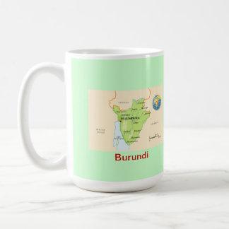 Burundi map & flag coffee mug