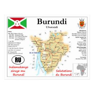 Burundi map Postcard