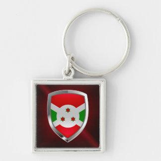 Burundi Mettalic Emblem Keychain