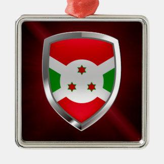 Burundi Mettalic Emblem Metal Ornament