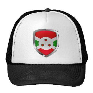 Burundi Mettalic Emblem Trucker Hat