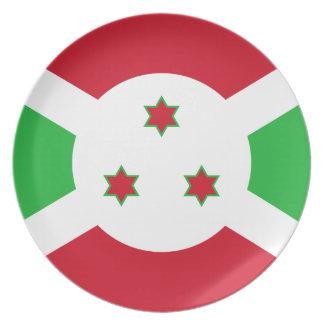 Burundi National World Flag Plate