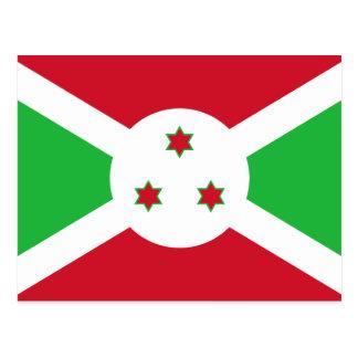 Burundi National World Flag Postcard