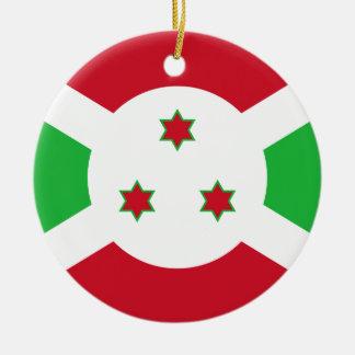 Burundi National World Flag Round Ceramic Ornament