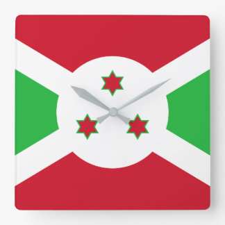 Burundi National World Flag Square Wall Clock