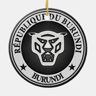 Burundi Round Emblem Ceramic Ornament