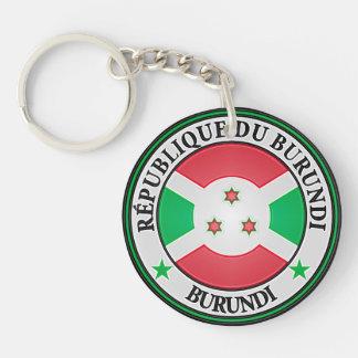 Burundi Round Emblem Keychain